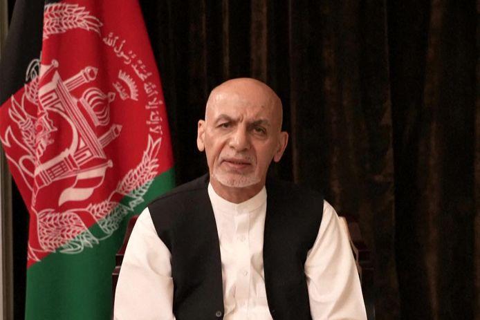 Ashraf Ghani, l'ex-président qui a précipitamment quitté dimanche son pays pour les Émirats arabes unis, d'où il s'est adressé mercredi à ses compatriotes.