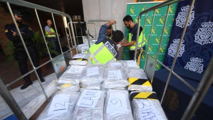 De 6300 kilo cocaïne is de één na grootste drugsvangst in Spanje ooit.