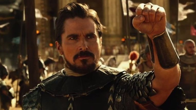 Christian Bale als Mozes in 'Exodus: Gods and Kings'. Beeld 21th Century Fox