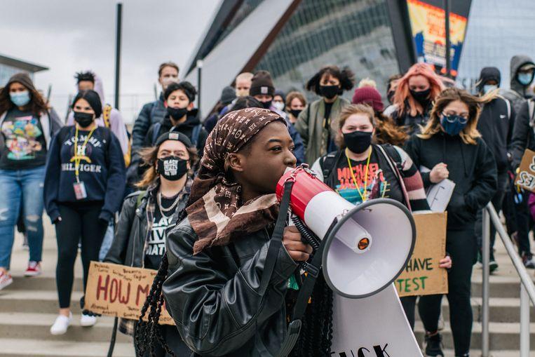 Studenten betogen voor burgerrechten.  Beeld Getty Images