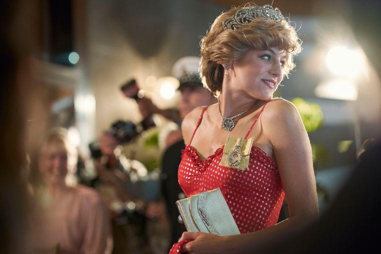 Emma Corrin speelt prinses Diana in 'The Crown'. Beeld AP