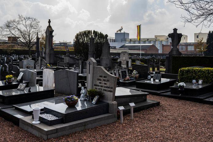 Foto ter illustratie van begraafplaats Zele kerkhof.