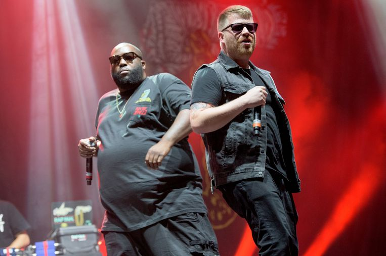 Killer Mike en El-P van Run The Jewels op Reading Festival Beeld BELGAIMAGE