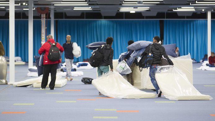 In september kwamen 200 vluchtelingen aan in het Beatrixgebouw in de Jaarbeurs Utrecht. Foto ter illustratie.