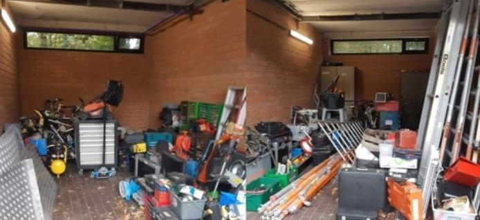 De gestolen spullen werden teruggevonden in een woning en bijbehorende garage in Brasschaat.