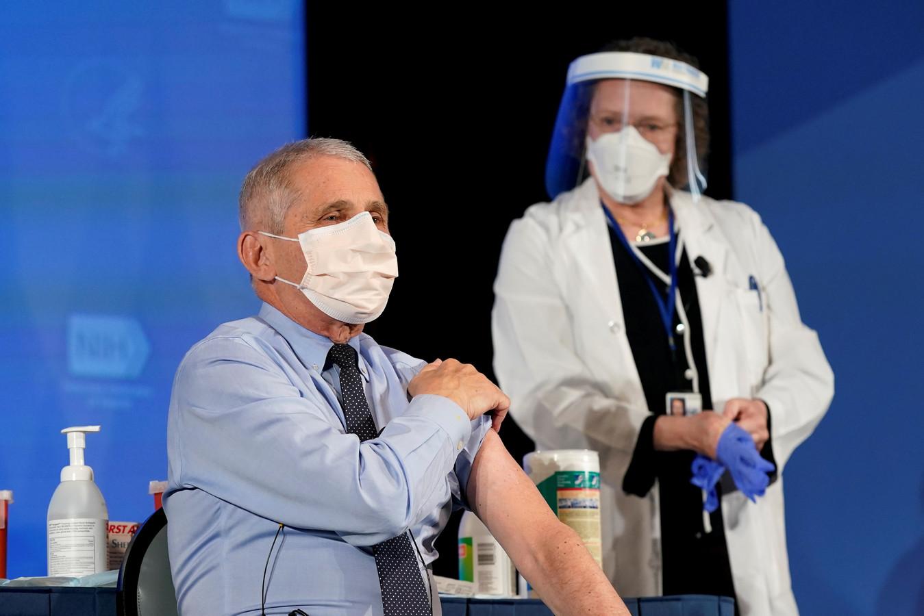 Le Dr Fauci a reçu le vaccin Moderna au mois de décembre.