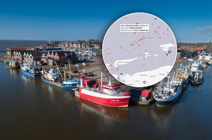 Foto ter illustratie. Inzet: een viskotter is ter noorden van Schiermonnikoog gekapseisd.