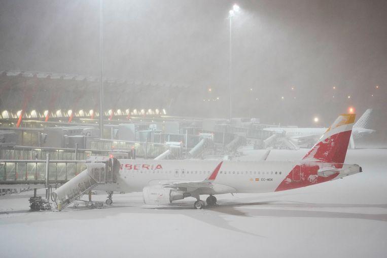 De luchthaven van Madrid. Beeld Reuters