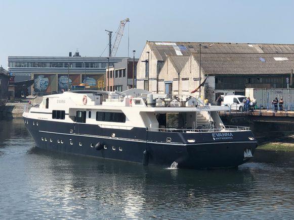 De Evanna is aangekomen in Oostende