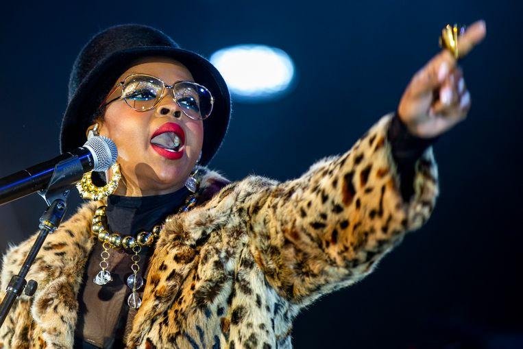 Lauryn Hill, vorig jaar op het podium in het Zwitserse Bazel. Beeld EPA