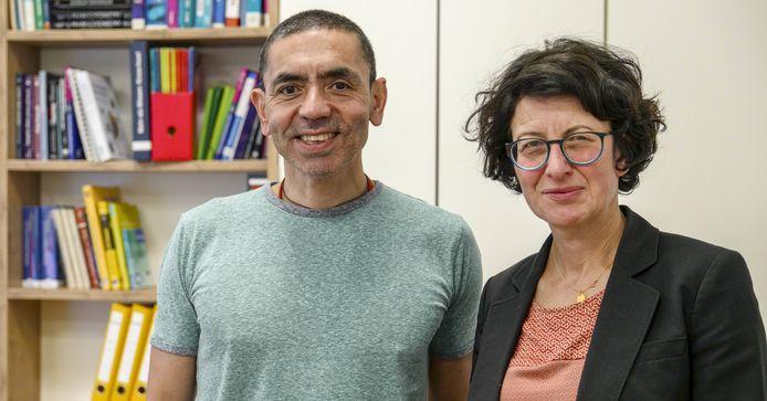 Uğur Şahin en zijn vrouw Özlem Türeci.