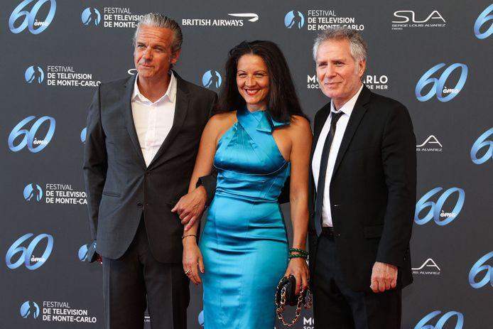 David Brecourt, sa compagne Alexandra Sarramona et Laurent Olmedo.