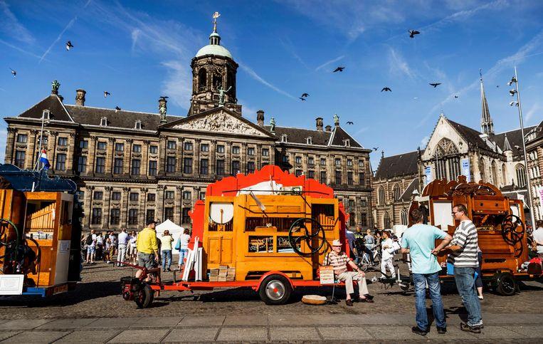 2016-09-10 11:16:27 AMSTERDAM - Draaiorgels op de Dam tijdens het Draaiorgelfestival. Het festival wordt sinds 2004 jaarlijks op en rondom de Dam gehouden. ANP REMKO DE WAAL Beeld anp