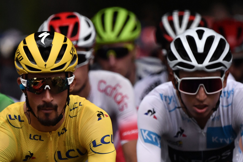 Julian Alaphilippe en Egan Bernal zijn ook dit jaar van de partij in de Ronde van Frankrijk. Beeld AFP