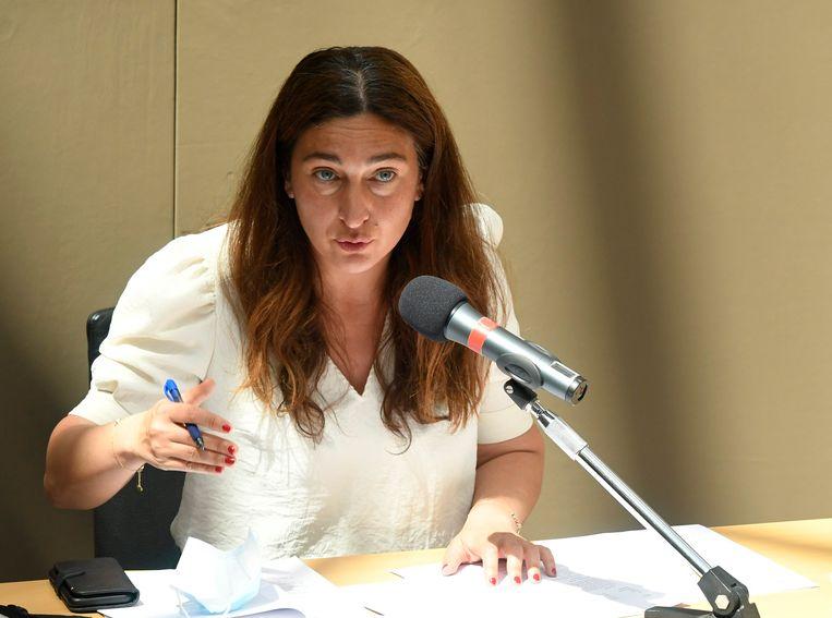 Minister van Omgeving Zuhal Demir (N-VA): 'Door niet mee te gaan in het opbod van percentages, respecteert de rechter ten volle de scheiding der machten.' Beeld Photo News