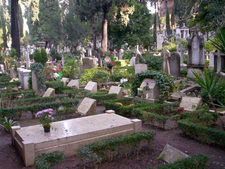 Campo Cestio, de protestantse begraafplaats in Rome. Beeld Wikimedia Commons