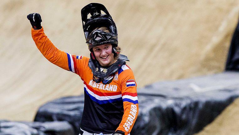 Laura Smulders, Nederlandse troef op de Europese Spelen bij de BMX-wedstrijden. Beeld ANP