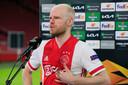 Davy Klaassen doet zijn verhaal na de 2-1 zege op Lille.