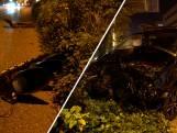 Flinke ravage in Deventer: bestelbus rijdt verkeerslicht uit de grond