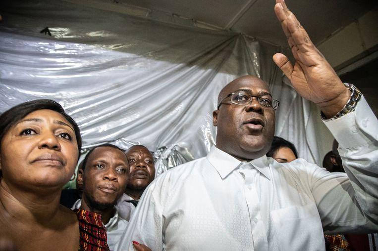 Felix Tshisekedi, de kennelijke winnaar van de verkiezingen.