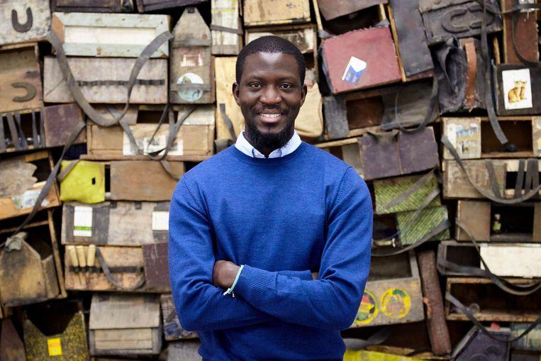 Ibrahim Mahama .  Beeld White Cube (George Darrell)
