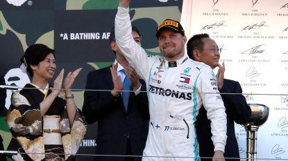 Bottas wint GP van Japan, Mercedes pakt zesde constructeurstitel op rij