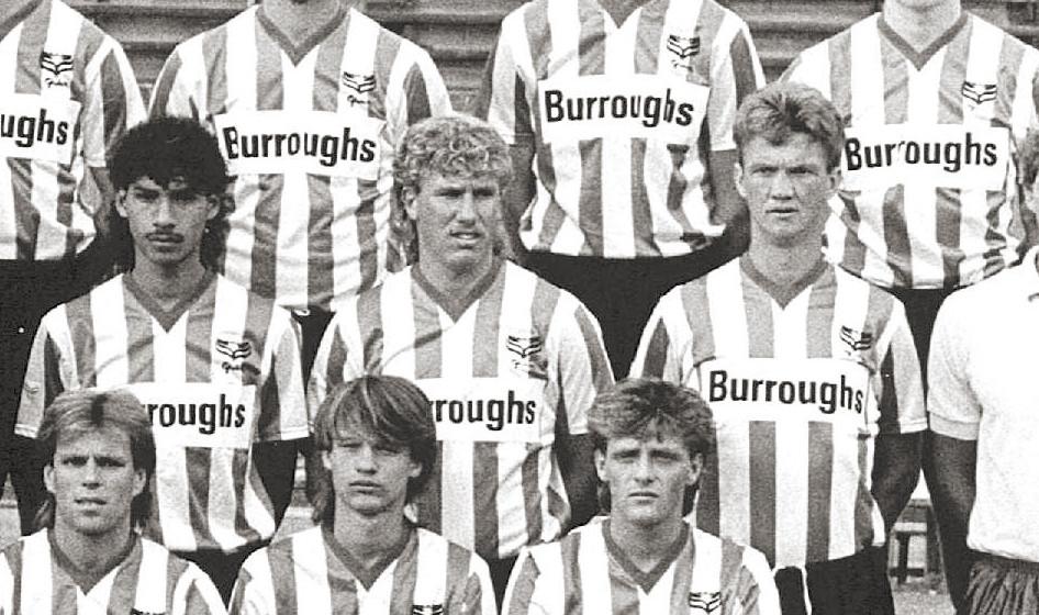 Henk Fraser (links) en Louis van Gaal (rechts) speelden in het seizoen 1985/1986 samen bij Sparta.