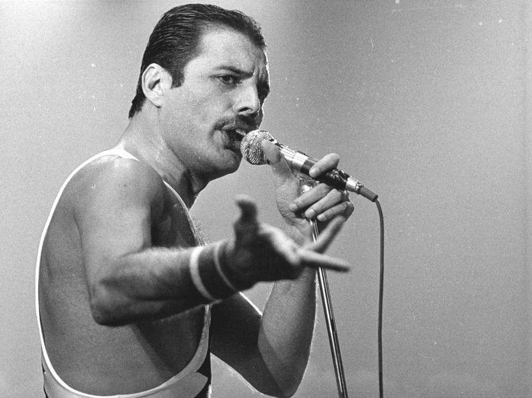 Zanger Freddie Mercury van de legendarische groep Queen. Beeld ANP