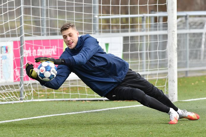 Andries Noppert op de training bij GA Eagles.