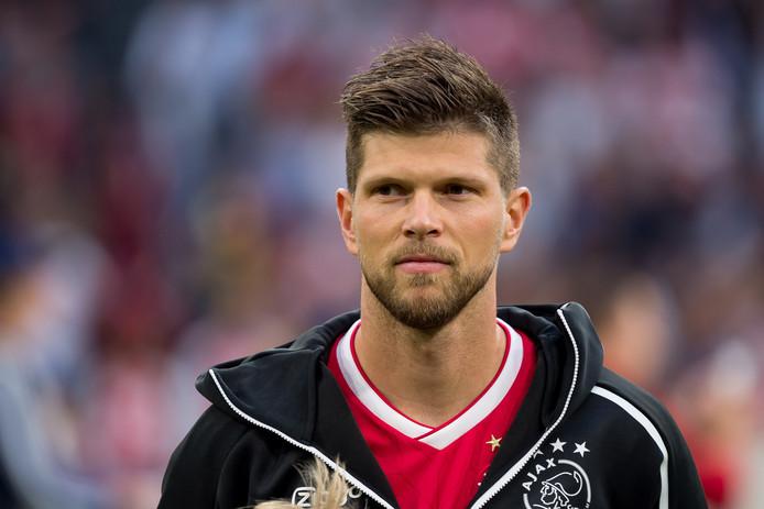 Klaas-Jan Huntelaar maakte de 2-1 voor Ajax tegen PEC Zwolle.