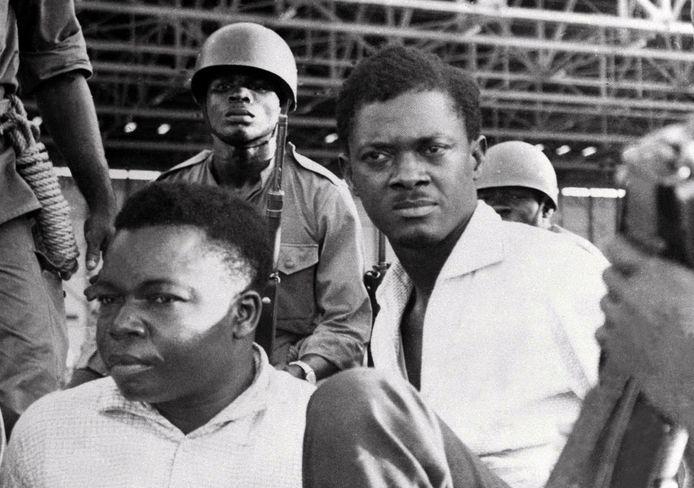 De Congolese premier Patrice Lumumba (rechts) in 1960.