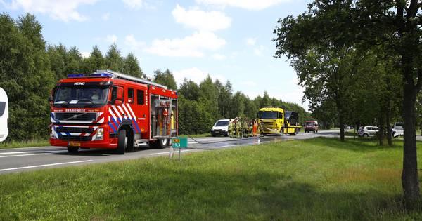 N35 bij Heino korte tijd dicht na ongeluk.