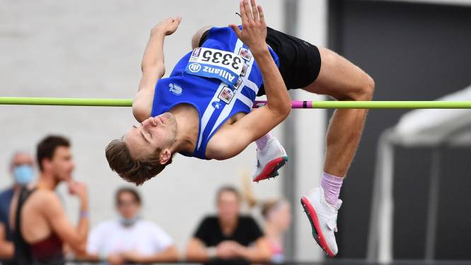 Junior Arne Min en belofte Jef Vermeiren Belgisch kampioen hoogspringen