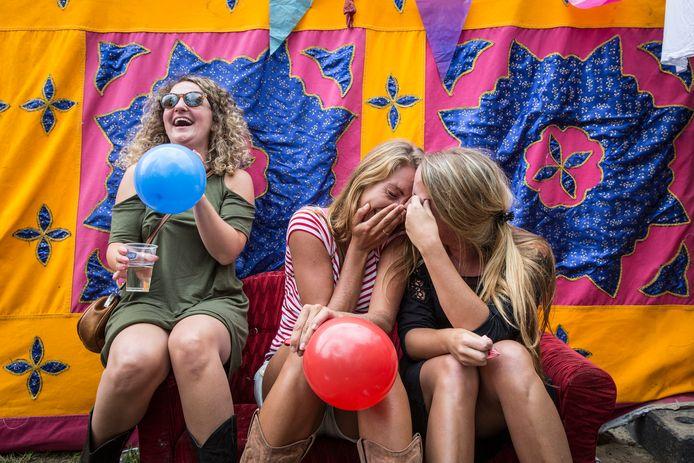 Archieffoto: Lachgas op het Guilty Pleasure Festival in Amsterdam. Foto Dingena Mol