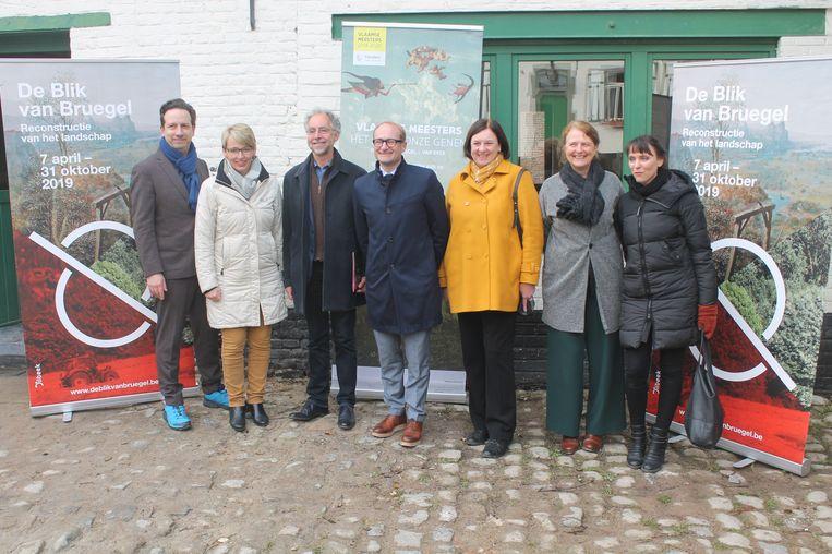 Vlaams minister van Toerisme Ben Weyts (N-VA) kwam een kijkje nemen op de voorstelling van de Bruegel-projecten.