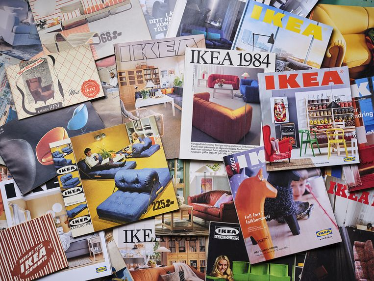 The IKEA catalogue through the ages, Ikea catalogus stopt, kosteloos Beeld Ikea Museum