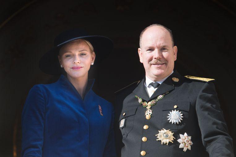 Prinses Charlène en prins Albert Beeld Getty Images