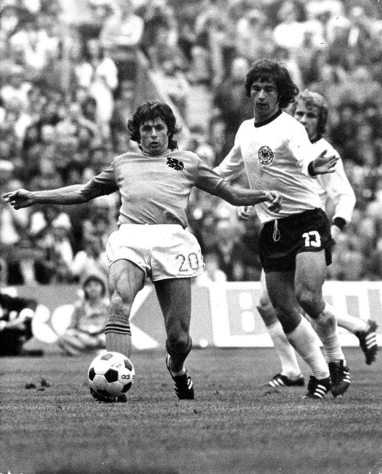Wim Suurbier tijdens de WK-finale van 1974. Beeld GPD