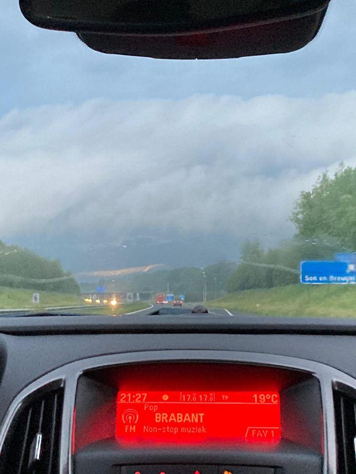 Op de A50 vanuit Sint-Oedenrode richting Oirschot.