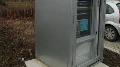 Automaat met vuilniszakken en cadeaubonnen tijdelijk defect