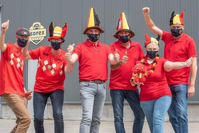 Bij voetbalclub SC Dikkelvenne zijn ze al helemaal in de sfeer.