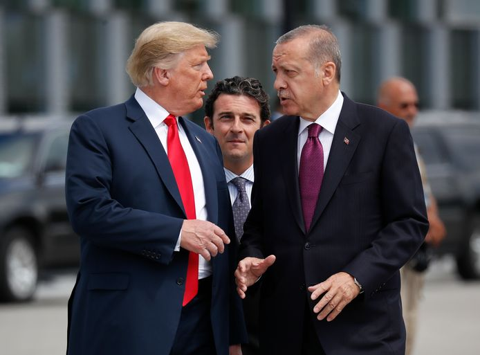 Amerikaanse president Trump met de Turkse president Erdogan.