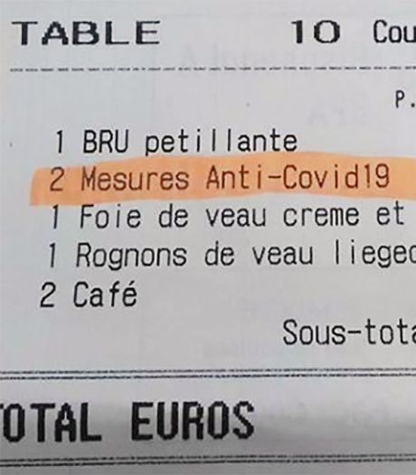 Restaurant in Brussel rekent coronatoeslag: 5 euro extra per persoon