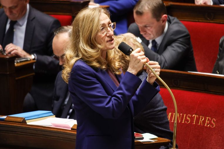 Nicole Belloubet, de Franse minister van Justitie, reageert op de zaak-Mila: 'Een godsdienst beledigen is een aanslag op de gewetensvrijheid.' Beeld Photo News