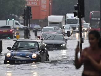 Overstromingen in Londen door zware regenval
