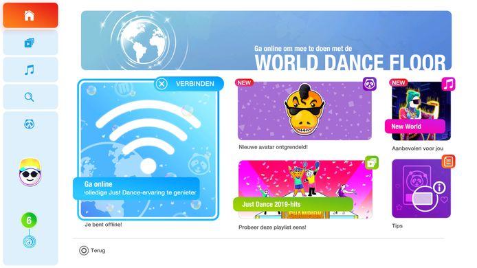 Het menu van Just Dance 2019 ziet er veel moderner uit.