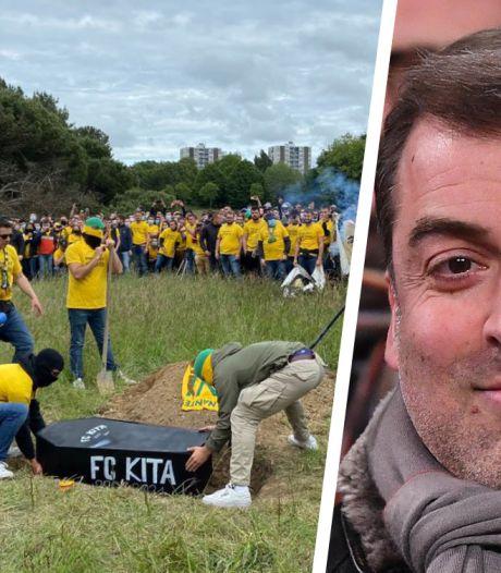 Huismakelaar FC Nantes graaft doodskist op die door boze fans werd begraven
