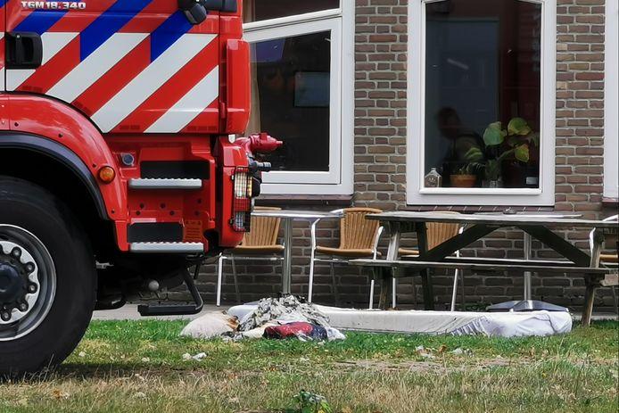 De brandweer rukte uit naar de zorgboerderij aan de Bornsesteeg in Wageningen.
