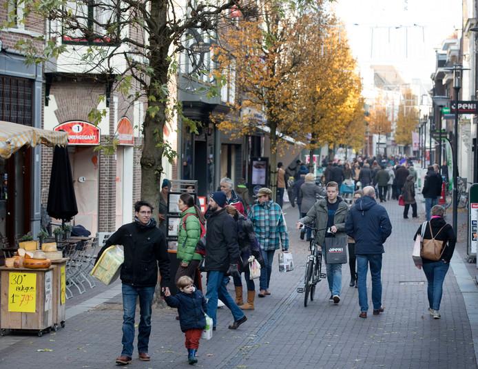 De Hoogstraat in Wageningen. Foto ter illustratie.