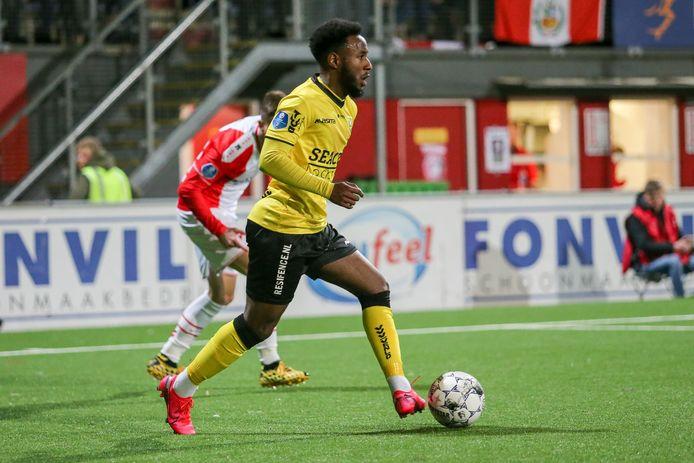 John Yeboah in het shirt van VVV Venlo.